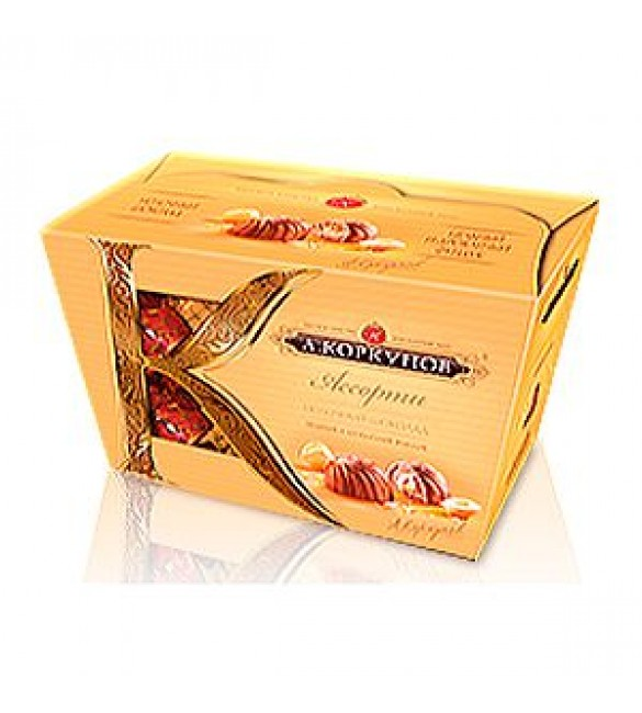 """""""А.Коркунов"""" Ассорти, молочный шоколад с цельным и дроблённым орехом, 135 г."""