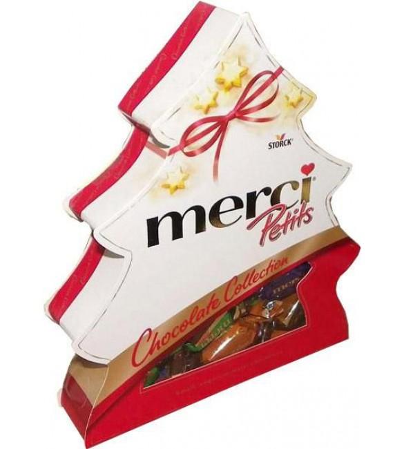"""Шоколадные конфеты """"Merci"""" Ёлка, 200 г."""