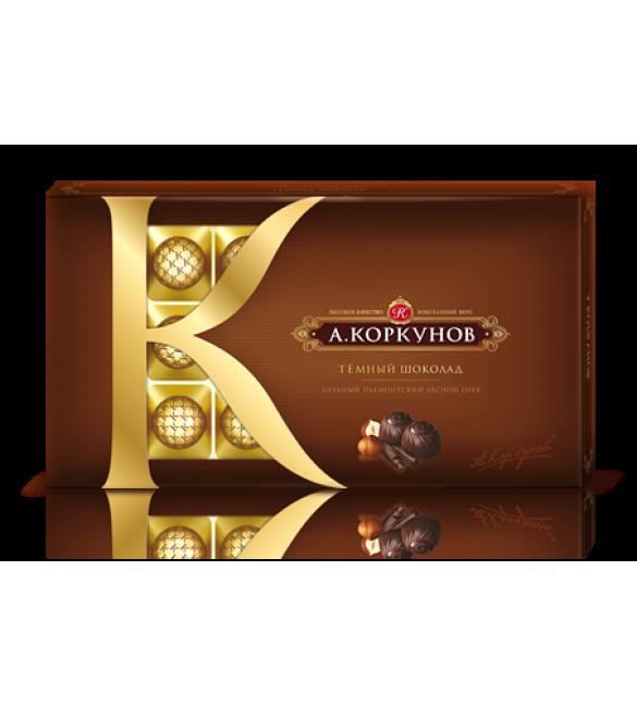 """""""А.Коркунов"""" тёмный шоколад с цельным орехом, 190 г."""