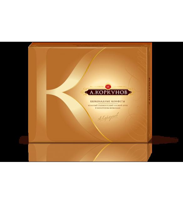 """""""А.Коркунов"""" молочный шоколад с цельным лесным орехом, 250 г."""