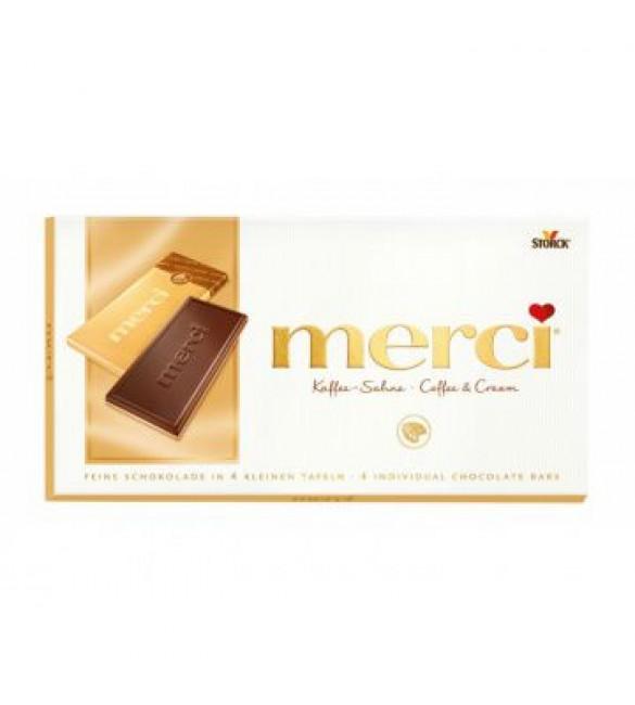 "Шоколад ""Merci"" кофе и сливки, 100 г"