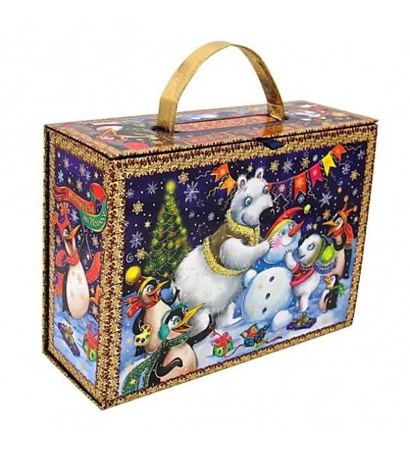 """Чемоданчик """"Новый год на полюсе""""  + Игра «Сюрпризы от Деда Мороза»"""