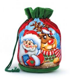Новогодние конфетные подарки в мешочках оптом